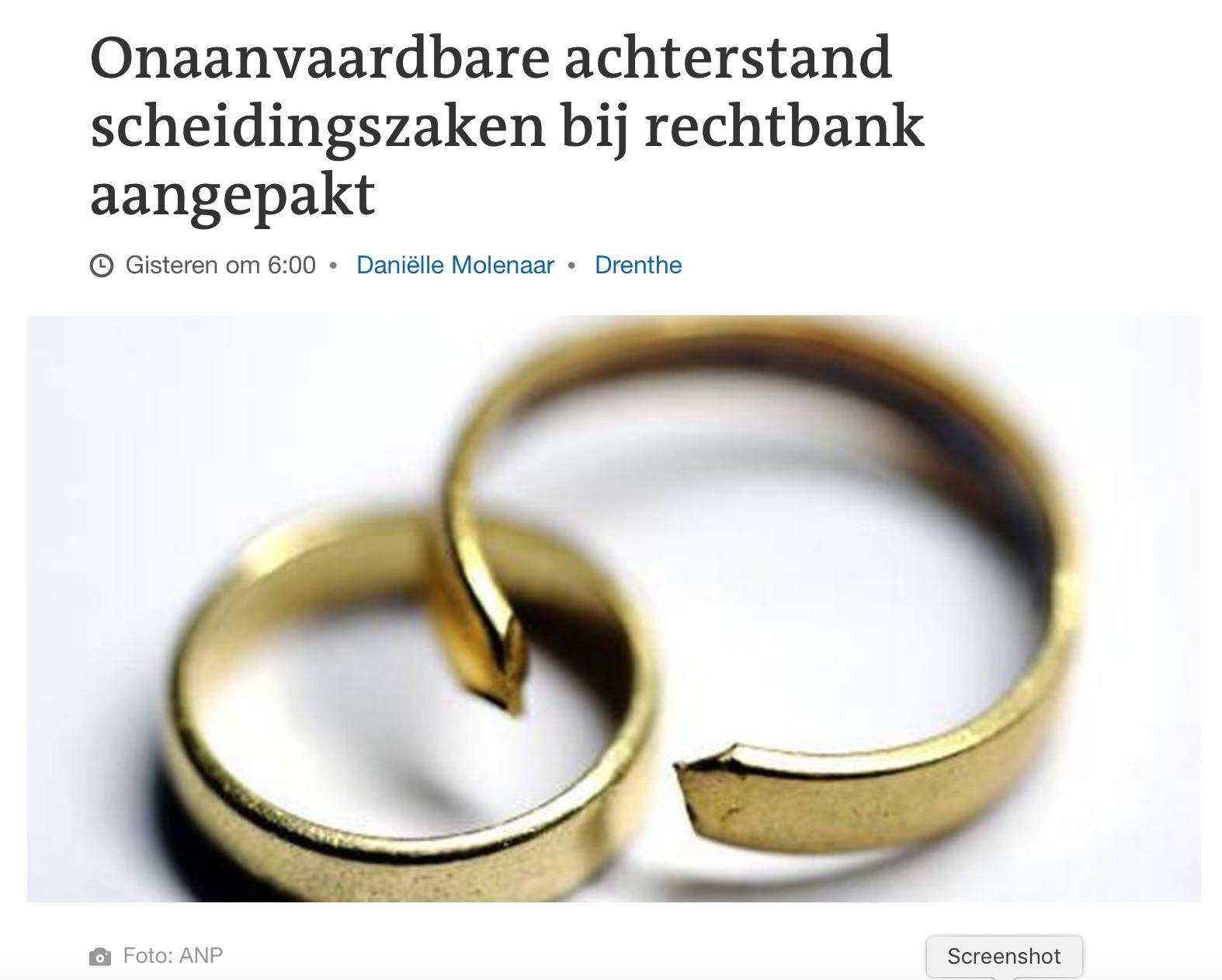 Onaanvaardbare Achterstand Scheidingszaken Bij Rechtbank Aangepakt